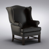Pottery Barn - Thatcher Leather Wingback Chair  Pottery Barn